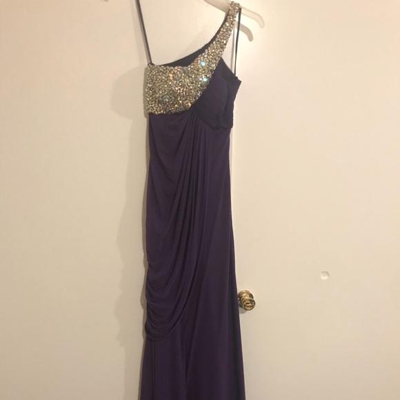 Dresses   Beaded Elegant Long Prom Dress Purple Bedazzled   Poshmark